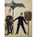 Teckning av Gunilla Palmstierna-Weiss från 1968,  i Viet Nam Diskurs Stockholm av Marion von Osten med Peter Spillmann