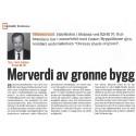 Kapital publiserer artikkel av Stig Bech om prosjektet Merverdien av grønne bygg