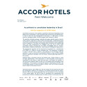 Press Release: AccorHotels to consolidate leadership in Brazil