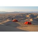 Läger bland sanddyner