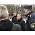 Justitie- och inrikesminister Morgan Johansson besökte Klockaretorpet