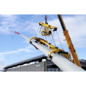 """Der """"Bunny"""" von Ematec: Neue Traverse ermöglicht die Hasenohrmontage bei getriebelosen Windkraftanlagen"""