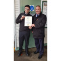 Smiling Andy wins community award for helping passengers at Salfords Station