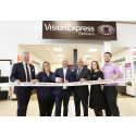 Vision Express CEO, Jonathan Lawson and Tesco Ireland CEO, Andrew Yaxley, officially open new optical store within the new Tesco Liffey Valley