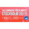 Stor och bred uppslutning till klimatmanifestationerna i Sverige på söndag