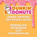 Grand Opening för Webhallens unika samarbete med Dunkin' Donuts
