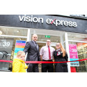 Braunton youngster helps local optician celebrate relaunch after team 'saved her life' with tumour diagnosis