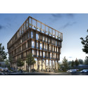 Full fart framåt för Göteborgs första kontorshus i trä