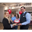 Southampton optician welcomes 17-month-old eye cancer survivor as special guest for store relaunch