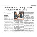Surbana Jurong to help develop Trincomalee in Sri Lanka