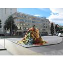 Rinnande mönster, nytt konstverk på Stortorget