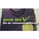 Quick test – certifiering eller varumärkeslicens?
