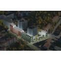 Nu omvandlas tusentals kvadratmeter asfalt till 104 hyresrätter i Jakobsberg