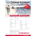Tidtabell Snötåget vintern 2018/2019