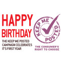 Keep Me Posted Campaign Celebrates One Year