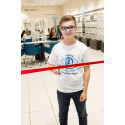 Eye cancer teen officially re-opens Vision Express Redditch