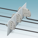 High-current feed-through terminal block for up to 232 A