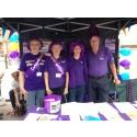 The Stroke Association and Petersfield Spring Fair set out to conquer stroke during Make May Purple