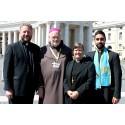 Ekumenisk delegation med när svenska katoliker fick sitt andra kanoniserade helgon