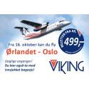 Flere billige billetter, avganger og destinasjoner med FlyViking