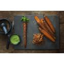 Paul Svenssons honungs- och kryddbakade morötter med basilika och senap