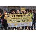 Gula Promenaden den 25 mars för att uppmärksamma endometrios