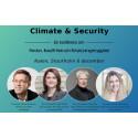 Climate & Security, en konferens om fordon, fossilfrihet och försörjningstrygghet