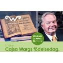 Cajsa Wargs födelsedag firas i Wadköping 26 mars – Carl Jan Granqvist föreläser m.m.