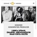Nominerade som  Årets Låtskrivare och Producent!