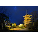 Five-story pagoda at To-ji Temple brightens up Kyoto evenings : Meticulously designed illumination