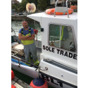 Hi-res image - ACR Electronics - Fisherman Simon Jones with his ACR ResQLink PLB