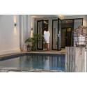 Sweden Hotel Continental i Halmstad ökar spa-känslan med varm utomhuskälla