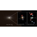Alma upptäcker en virvlande stråle som avslöjar ett växande, supermassivt svart hål