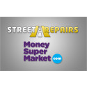 WEBSITE STREET REPAIRS TEAMS UP WITH MONEYSUPERMARKET TO PROVIDE A HELPING HAND AGAINST POTHOLE PROBLEMS.