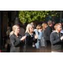 Det bjöds på tal, mat och många skratt under Sector Alarms firande av 200 000 kunder i Sverige