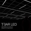 Skapa ditt eget mönster med Integrerat ljus i undertaket. Wila T-Bar.