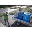 En lika het som miljövänlig metod för ogräsbekämpning och rengöring