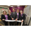 Local MP Jonathan Djanogly joins Vision Express to officially open its new optical store at Tesco in St Neots