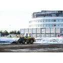 Volvo hjullastare i Kiruna