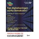 Kan digitaliseringen stärka demokratin? Debatt på Sundsvalls stadsbibliotek