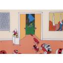 Egensinnig grafik av Marie-Louise Ekman på Grafikens Hus