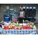 """""""riggad lunchresturang """" av teamet kring Fastest X Europe under etapp 3"""