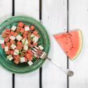 Recept: Melonsallad med fetaost & honung