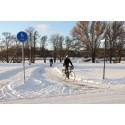 Pressinbjudan: Också i år kommer vintercyklister ha koll på cykelstråken