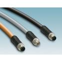 Færdigkonfektionerede M12-powerkabler til høje effekter