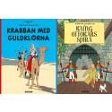 Två Tintin-böcker i nyutgåva