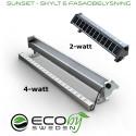 Beställning av solcellsarmatur tog slut samma dag - Sunset wallwasher skylt- och fasadbelysning