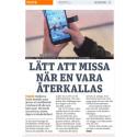 Metro om produktåterkallelser till mobilen via digitalt kvitto