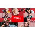 Huippuvalokuvaaja Veikko Kähkönen kuvasi henkilökuvasarjan Coca-Colan punaisen värin juhlavuoden kunniaksi