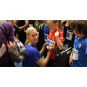 Olympier inspirerar barn på Gotland att nå  100 varv runt jordklotet för en bättre värld